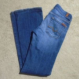 """7 FOR ALL MANKIND BOOTCUT JEANS 25/31.5"""""""